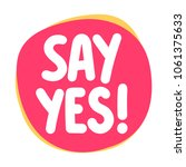 say yes  vector icon  badge... | Shutterstock .eps vector #1061375633