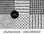 scribble patterns set. doodles... | Shutterstock .eps vector #1061383010