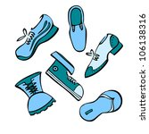 vector set of shoes | Shutterstock .eps vector #106138316