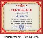 certificate design with... | Shutterstock .eps vector #106138496