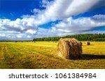 haystack harvest spring field...