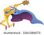 cartoon knight character   Shutterstock .eps vector #1061386073