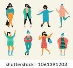 vector illustration of fashion... | Shutterstock .eps vector #1061391203
