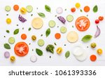 food pattern with raw...   Shutterstock . vector #1061393336