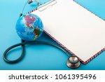 world health day  stethoscope...   Shutterstock . vector #1061395496