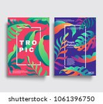 modern cover templates.tropic... | Shutterstock .eps vector #1061396750