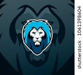 lion logo design. trendy sport... | Shutterstock .eps vector #1061398604