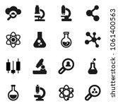 flat vector icon set   atom... | Shutterstock .eps vector #1061400563