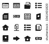 flat vector icon set   schedule ...