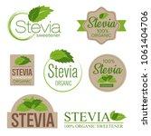 stevia sweetener sugar... | Shutterstock .eps vector #1061404706