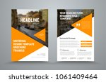 design flyer with triangles and ... | Shutterstock .eps vector #1061409464