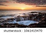 el bufadero  unique pool at...   Shutterstock . vector #1061415470
