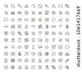 social network icon set.... | Shutterstock .eps vector #1061417669
