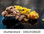 dried ginger or zingiber... | Shutterstock . vector #1061418620