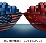 china united states trade war... | Shutterstock . vector #1061419706