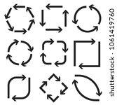 arrows in circular motion.... | Shutterstock .eps vector #1061419760