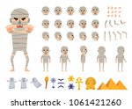 ancient mummy creation kit.... | Shutterstock .eps vector #1061421260