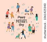 happy mothers day. vector... | Shutterstock .eps vector #1061425340