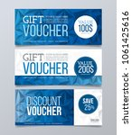 gift and discount voucher... | Shutterstock .eps vector #1061425616