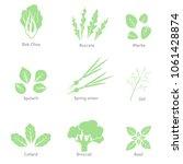 vector eco  organic  bio logos... | Shutterstock .eps vector #1061428874