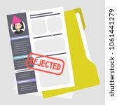 applying for a job. rejected.... | Shutterstock .eps vector #1061441279
