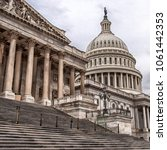 Stock photo steps to the united states capitol building in washington dc usa 1061442353