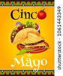 cinco de mayo mexican holiday... | Shutterstock .eps vector #1061443349
