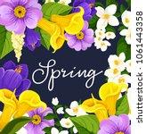 spring poster design for... | Shutterstock .eps vector #1061443358