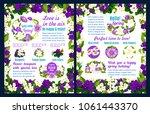 hello spring festive poster... | Shutterstock .eps vector #1061443370