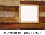 rectangular frame window on... | Shutterstock . vector #1061447534