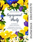 engagement party invitation... | Shutterstock .eps vector #1061453570