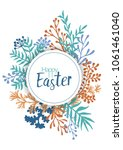 happy easter vector cards with... | Shutterstock .eps vector #1061461040