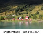 norway landscape in sogn of... | Shutterstock . vector #1061468564