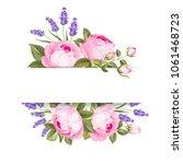 single rose card. gentle... | Shutterstock .eps vector #1061468723