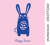 quirky easter bunny stamp... | Shutterstock .eps vector #1061472263
