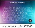 cryptocurrency concept hand... | Shutterstock . vector #1061473340