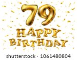 vector happy birthday 79th... | Shutterstock .eps vector #1061480804