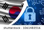the flag of south korea... | Shutterstock . vector #1061483516