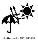 simple black and white sun  uva ... | Shutterstock .eps vector #1061485400