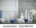 body care cosmetics and burning ... | Shutterstock . vector #1061488220