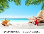summer background of free space ... | Shutterstock . vector #1061488553
