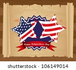 design of independence day on... | Shutterstock .eps vector #106149014
