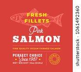 fresh fillets premium quality... | Shutterstock .eps vector #1061492360