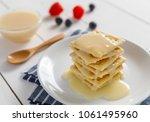 crackers with condensed milk... | Shutterstock . vector #1061495960