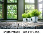 table background and spring... | Shutterstock . vector #1061497556