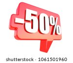 minus 50 percent off sign on... | Shutterstock . vector #1061501960