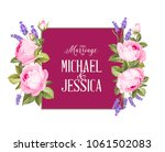 marriage invitation card with... | Shutterstock .eps vector #1061502083