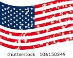 illustration of grunge usa flag ...   Shutterstock .eps vector #106150349