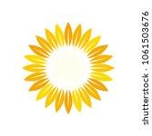 sun symbol. sunflower logo... | Shutterstock .eps vector #1061503676