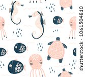 seamless childish pattern with... | Shutterstock .eps vector #1061504810